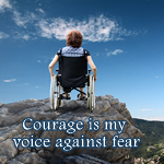 Positive Affirmation – Courage is my voice against fear