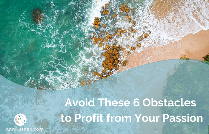Avoid These 6 Obstacles to Profit from Your Passion